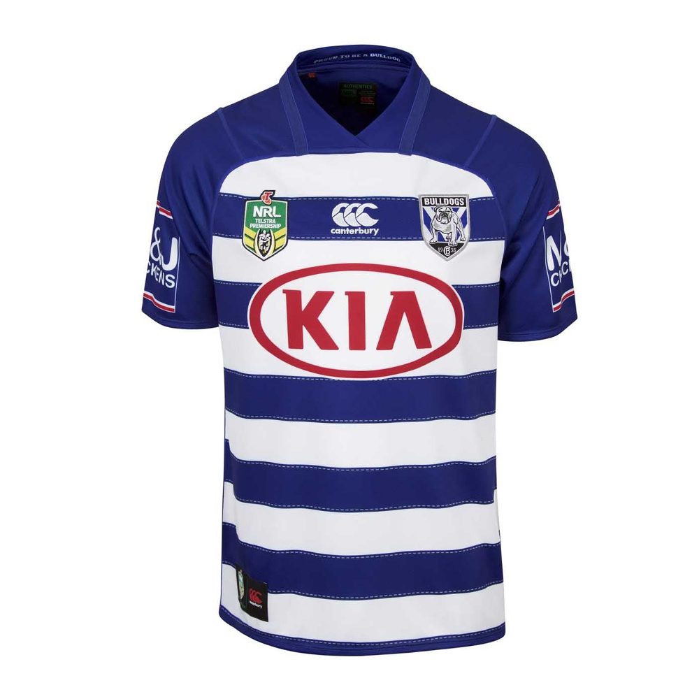 2018 Canterbury Bulldogs Away Heritage Mens Jersey - Front View