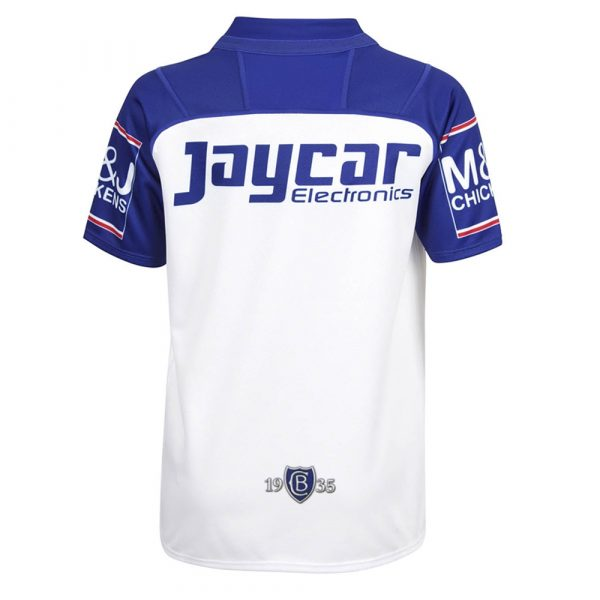2018 Canterbury Bulldogs Home Youth Jersey - Back