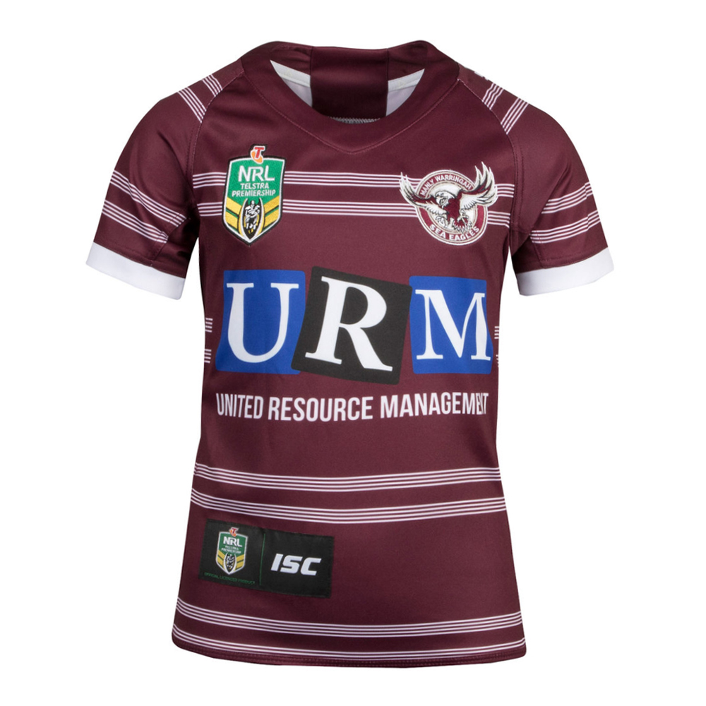 2018 Manly Sea Eagles Home Womens Jersey - Front