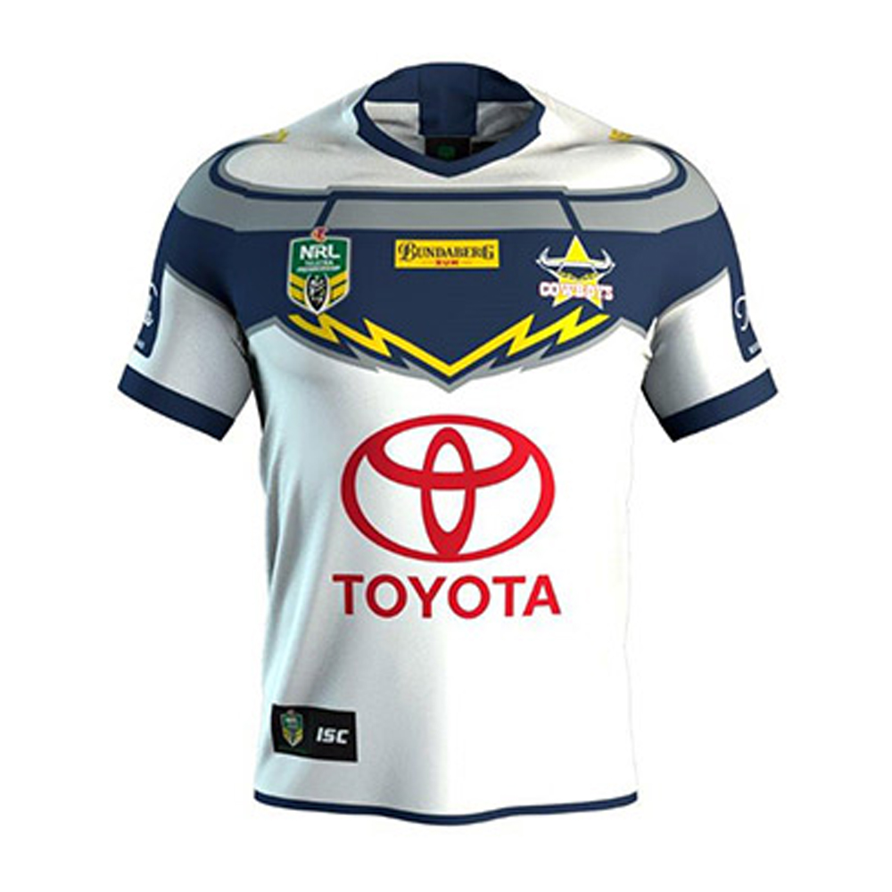 2018 North Queensland Cowboys Away Mens Jersey - Front View