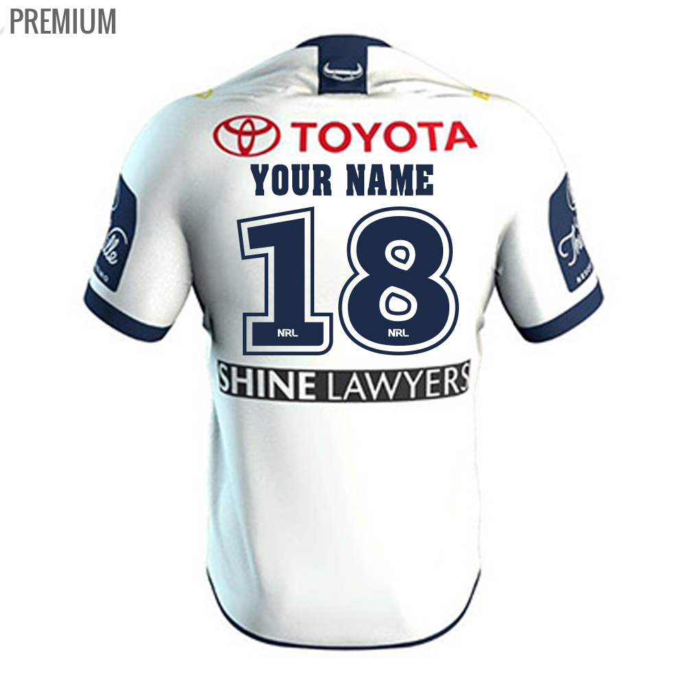 2018 North Queensland Cowboys Away Mens Jersey - Premium Personalisation