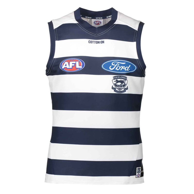 2018 Geelong Cats Home Mens Jumper - Front