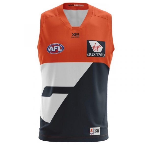 2018 GWS Giants Home Mens Jumper - Front