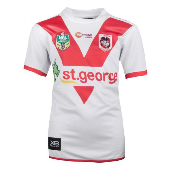 2018 St George Illawarra Dragons Home Youth Jersey - Front