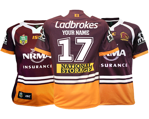 Get Your Name and Your Number on Your Brisbane Broncos Jersey 0e280476f