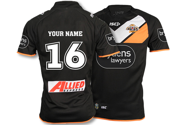 Personalised Wests Tigers Jerseys