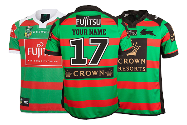 8f6977066a4 Personalised South Sydney Rabbitohs Jerseys