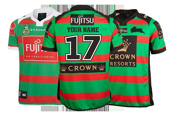 Personalised South Sydney Rabbitohs Jerseys