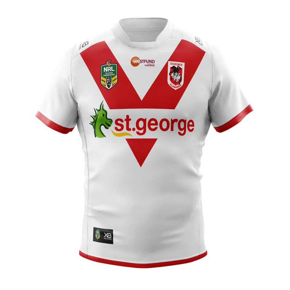 2018 St George Illawarra Dragons Home Jersey – Mens – Your Jersey