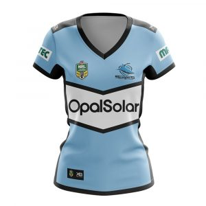 2018 Cronulla Sharks Home Womens Jersey - Front
