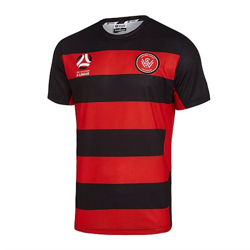 aa2d4b4b7 Personalised A League Soccer Jerseys. 201718 western sydney wanderers Home  front ...