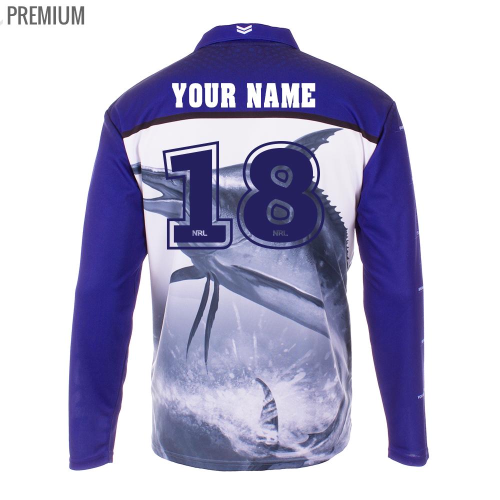 Personalised NRL Bulldogs Fishing Shirt - Premium Personalisation