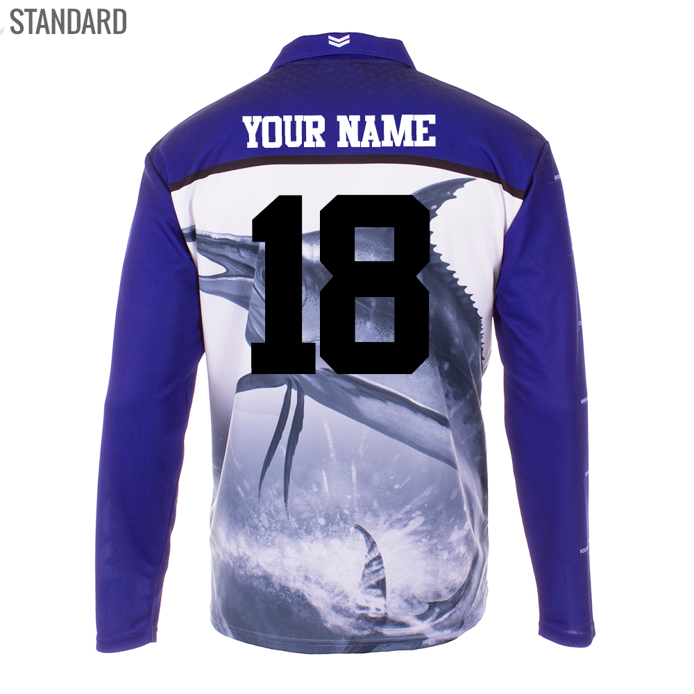 Personalised NRL Bulldogs Fishing Shirt - Standard Personalisation