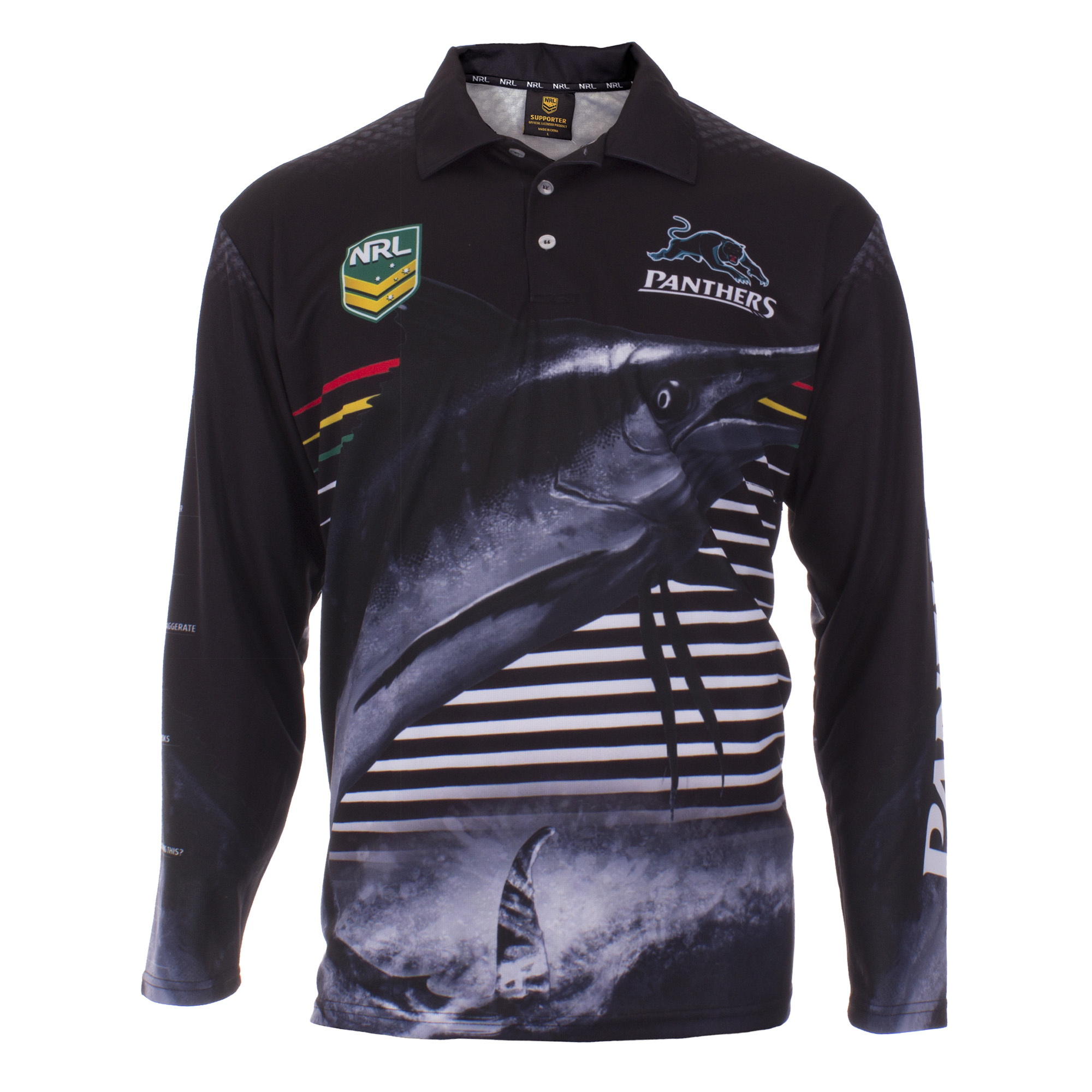 Personalised NRL Panthers Fishing Shirt - Front View