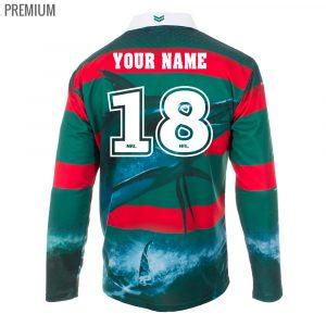 Personalised NRL Rabbitohs Fishing Shirt - Premium Personalisation