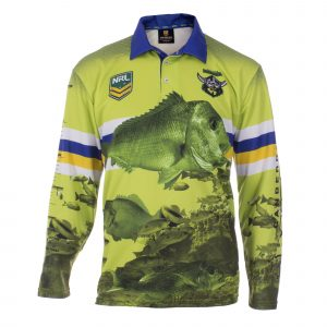 Personalised NRL Raiders Fishing Shirt - Front View