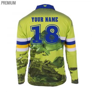Personalised NRL Raiders Fishing Shirt - Premium Personalisation