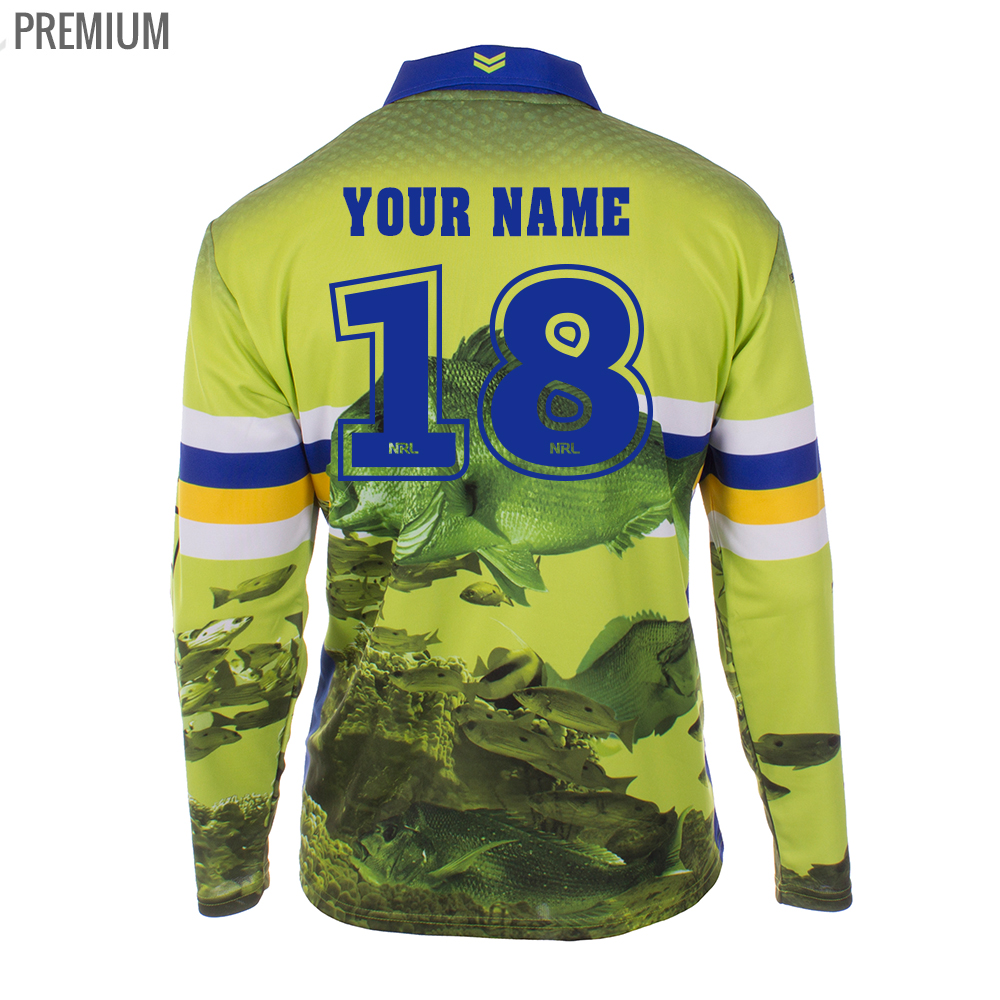 Personalised NRL Raiders Fishing Shirt - Premium Personalisation