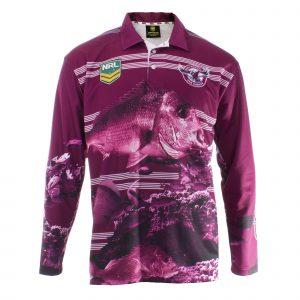 Personalised NRL Sea Eagles Fishing Shirt - Front View