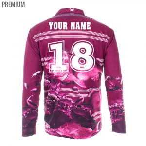 Personalised NRL Sea Eagles Fishing Shirt - Premium Personalisation