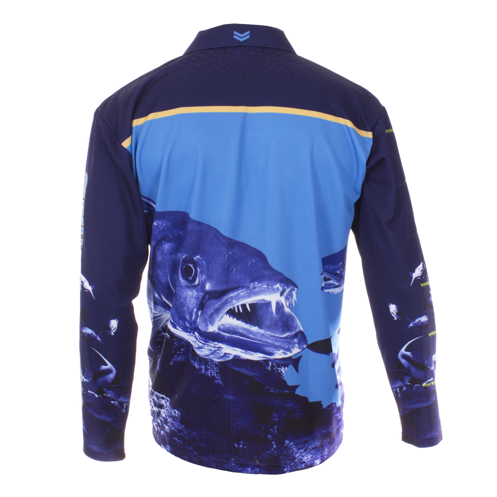 Personalised NRL Titans Fishing Shirt - Back View