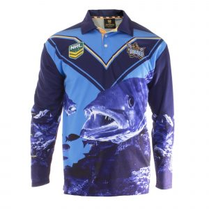Personalised NRL Titans Fishing Shirt - Front View