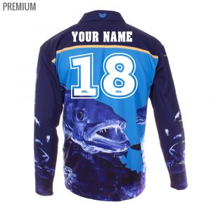 Personalised NRL Titans Fishing Shirt - Premium Personalisation
