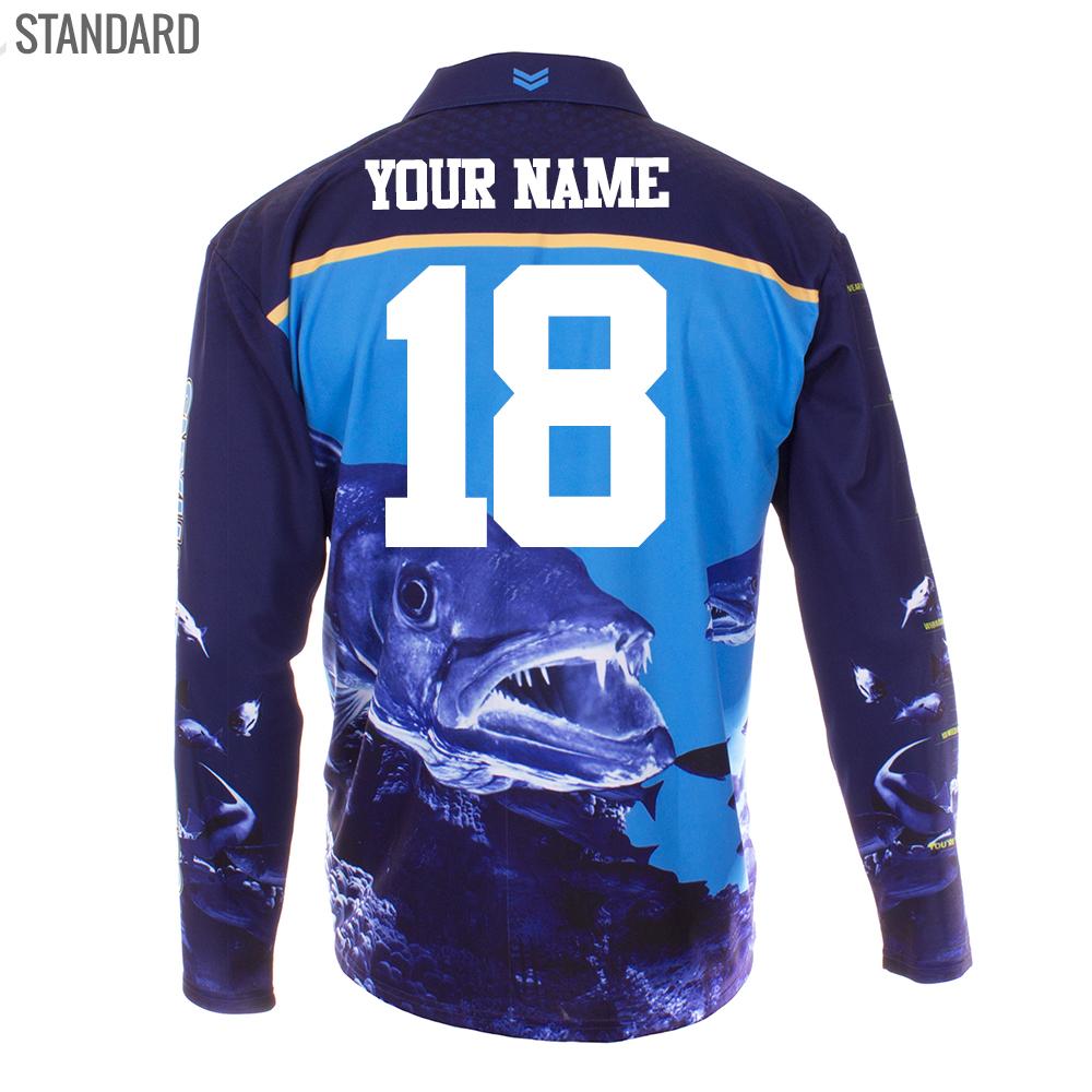 Personalised NRL Titans Fishing Shirt - Standard Personalisation