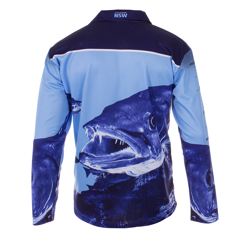 Buy nsw blues fishing shirt mens your jersey for Blue fishing nj