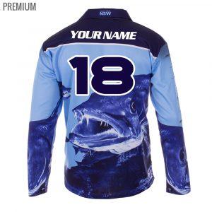 NRL NSW Fishing Jersey - Premium Personalisation