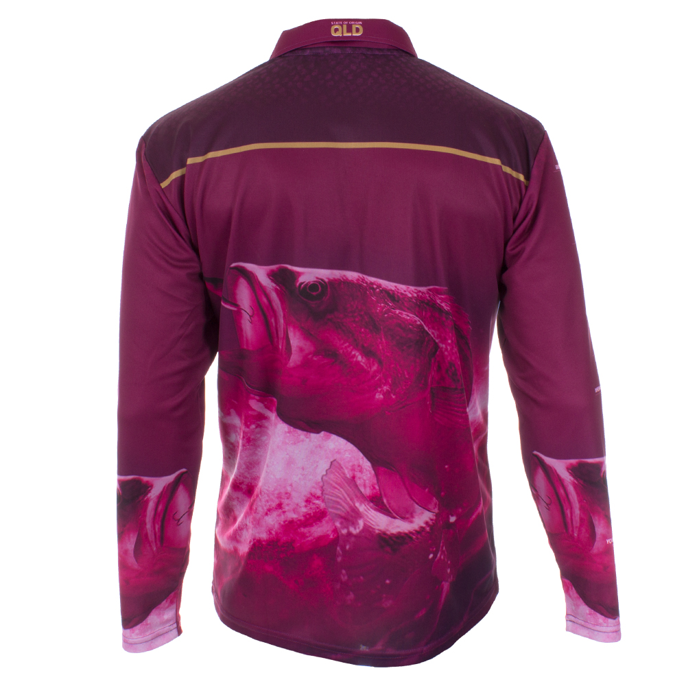 NRL QLD Fishing Jersey - Back View