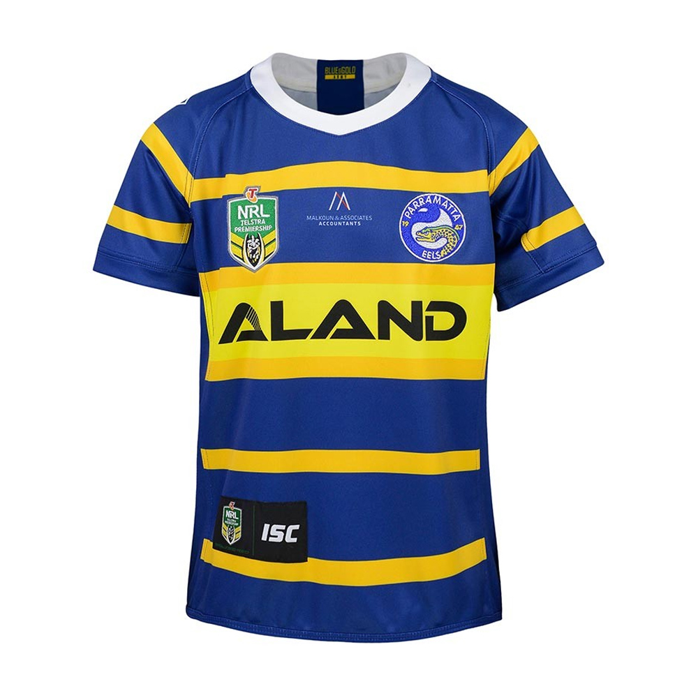 2018 Parramatta Eels Home Youth Jersey - Front