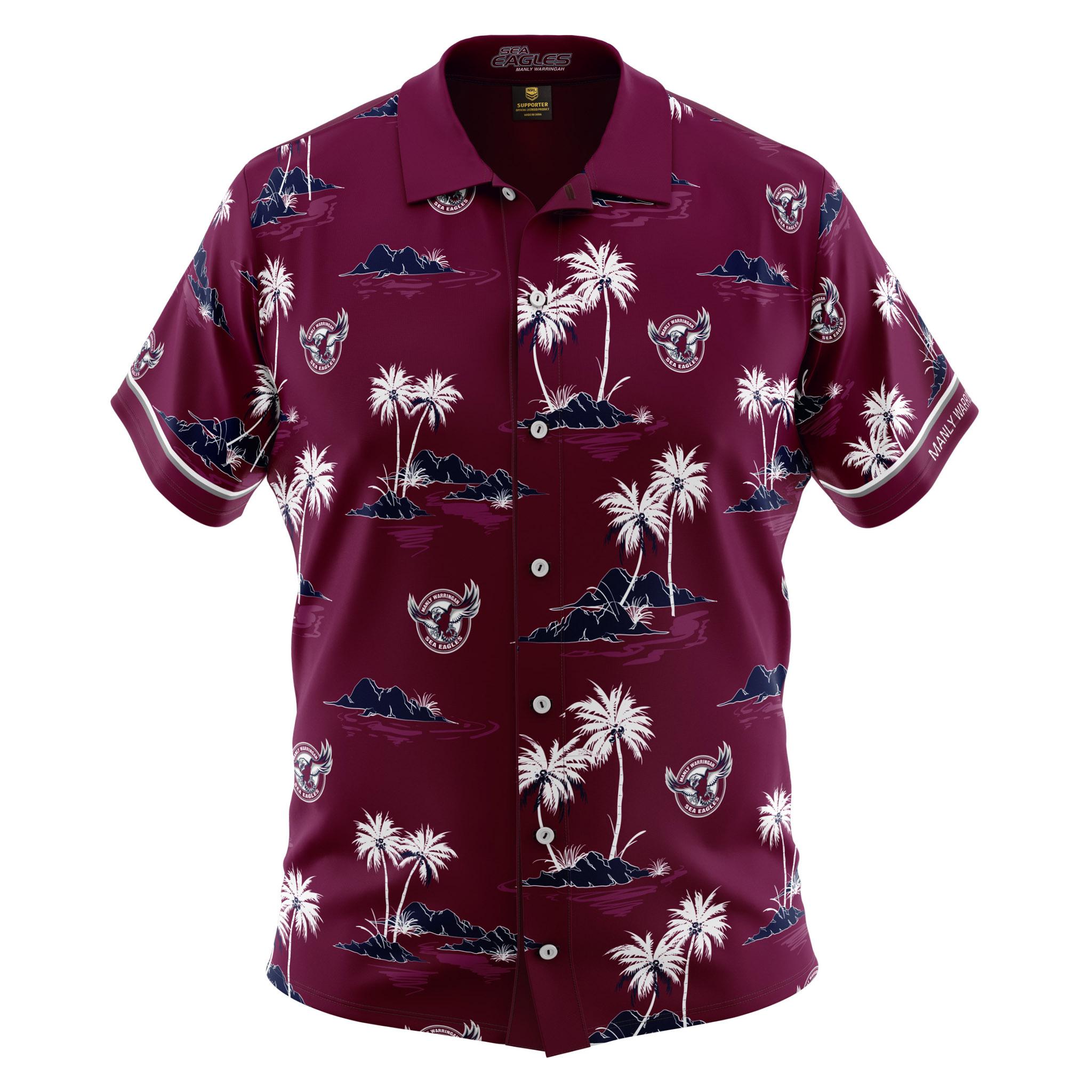 2b213a142 2019 Manly Sea Eagles Hawaiian Shirt - Adult. Shop   Collections   NRL  Hawaiian Shirts