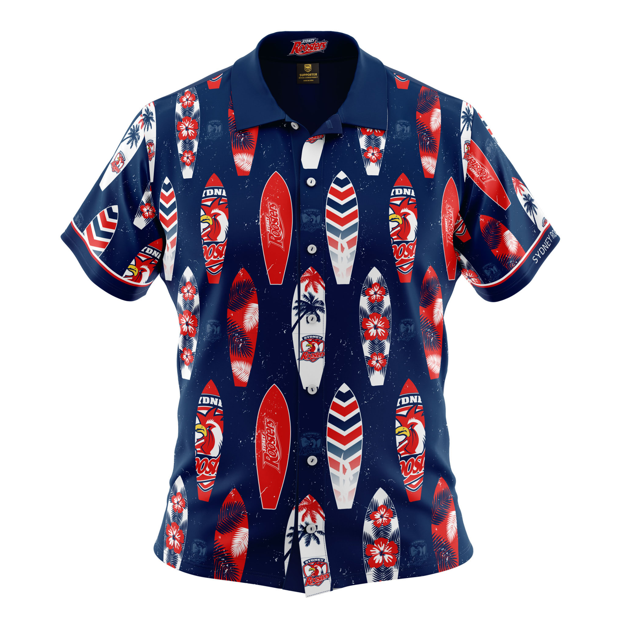 fdde0478170 Buy 2019 Sydney Roosters Hawaiian Shirt - Youth - Your Jersey