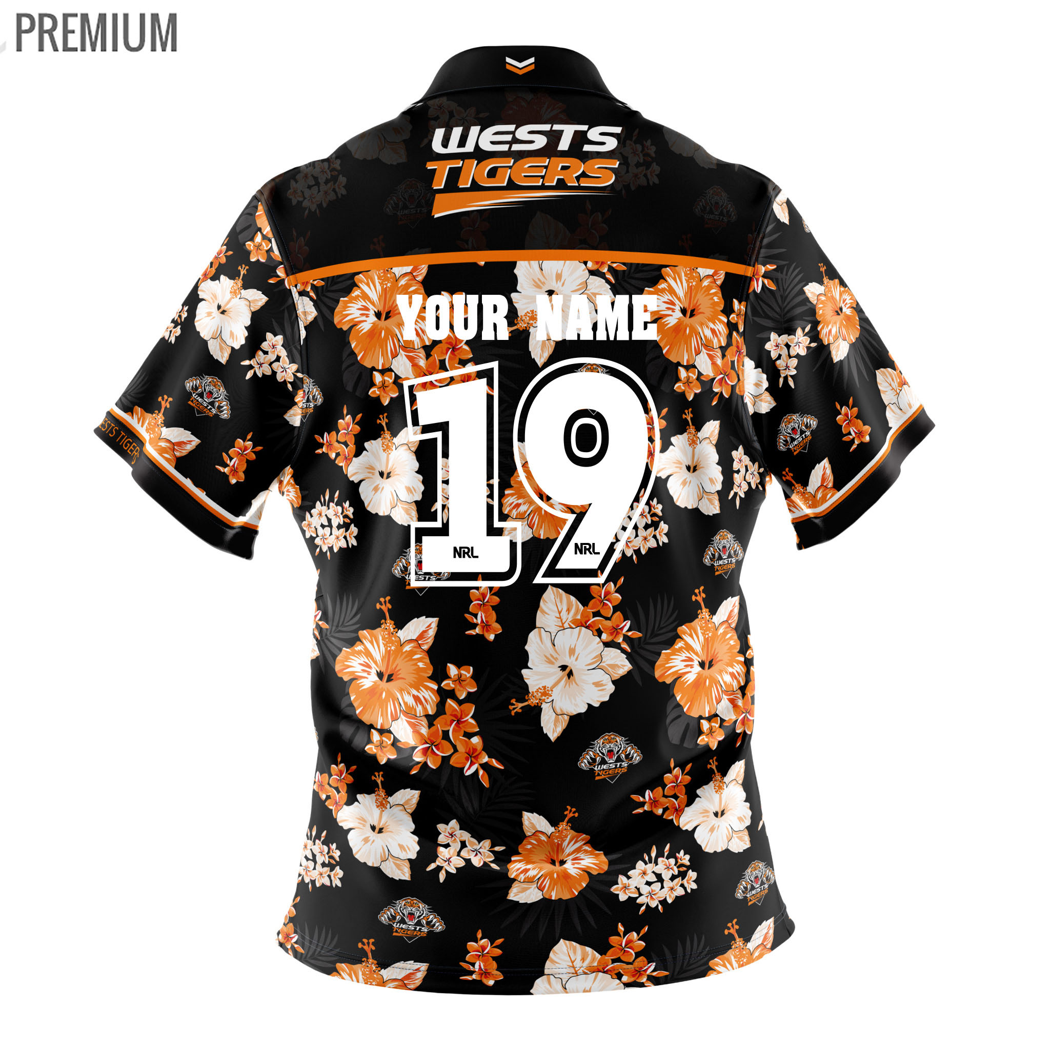 d481868f Buy 2019 Wests Tigers Hawaiian Shirt - Adult - Your Jersey