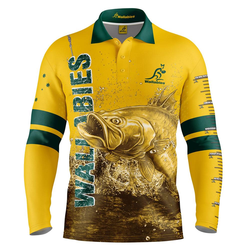 Buy 2019 Australian Wallabies Fishing Shirt - Youth - Your Jersey 98339aa8c
