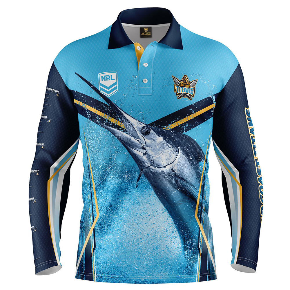 baedae29c28 Buy 2019 Gold Coast Titans Fishing Shirt - Adult - Your Jersey